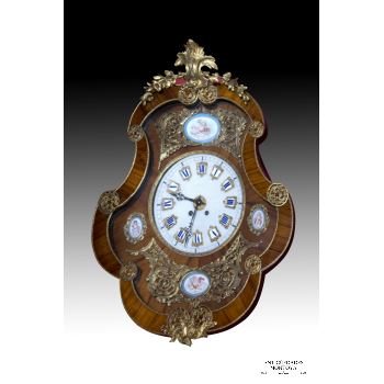 Reloj de Pared con Placas de sevres SXIX · ref.: AM0002898